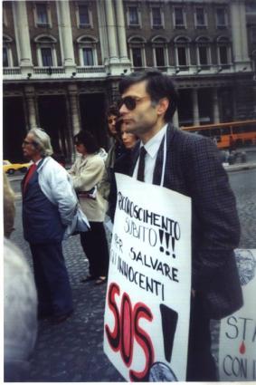A Roma nel 1991 nel corso di una manifestazione per il riconoscimento di Croazia e Slovenia